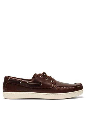 Quoddy Runabout Leather Boat Shoes - Mens - Dark Brown