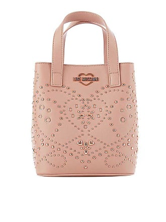 b342e093909 Love Moschino Bucket bag with studs in antique pink