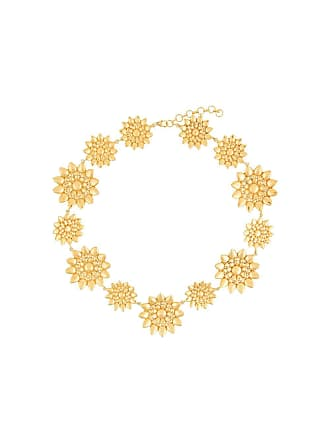 Eye M By Ileana Makri Colar floral de prata banhada a ouro - Dourado