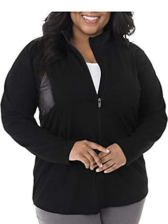 Fruit Of The Loom Womens Plus Size Active Mesh Jacket, Black, 4X