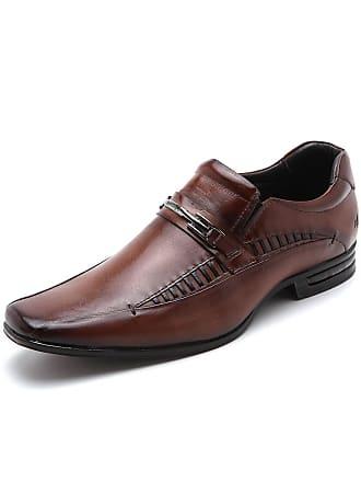 Rafarillo Sapato Social Couro Rafarillo Costura Marrom