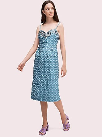8ac744f0758dae Kate Spade New York Flora Embellished Midi Dress, Storm Cloud - Size 14