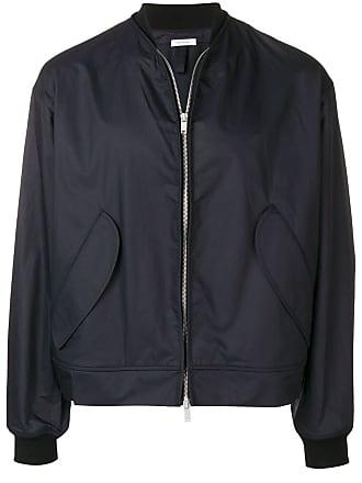 Jil Sander front zip bomber jacket - Blue