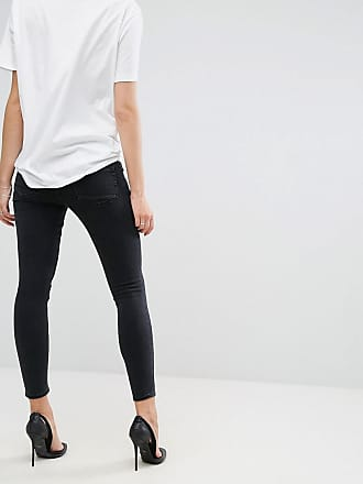 1e050a61f28 Asos Maternity ASOS DESIGN Maternity Ridley high waisted skinny jeans in  washed black with under the