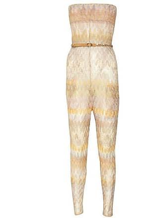 8a402c8d0cc Missoni Chevron Crochet Knit Bandeau Jumpsuit With Belt