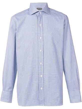 Tom Ford Camisa slim mangas longas - Azul