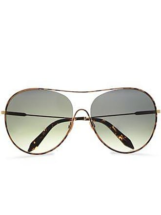 Victoria Beckham Victoria Beckham Woman Aviator-style Gold-tone Sunglasses Light Brown Size