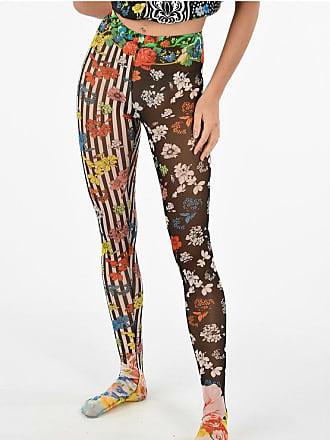 Versace floral-print slim fit leggings size 38