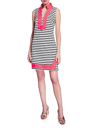 2241011645d Sail to Sable Striped Sleeveless Tunic Dress with Mandarin Collar