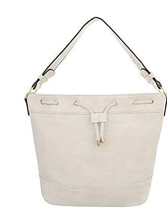 2cd375e9cb212 Ital-Design Damen-Tasche Kleine Schultertasche Handtasche Kunstleder Creme  TA-A122-1