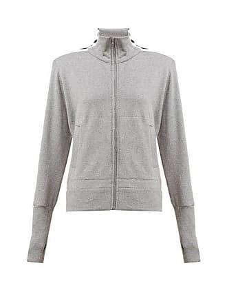 Norma Kamali Side Striped Cotton Blend Track Jacket - Womens - Grey