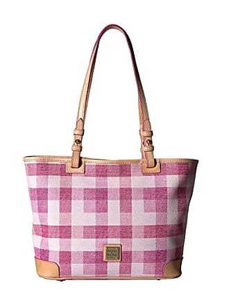 Dooney & Bourke Quadretto Check Small Leisure Shopper (Yellow/Vacchetta Trim) Handbags