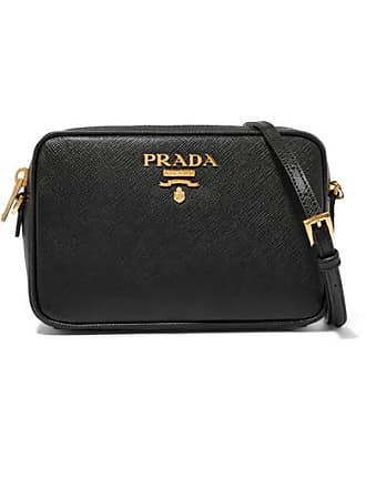 6d9935261b08 Prada Textured-leather Shoulder Bag - Black