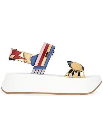 Marni multicoloured platform sandals - Gold