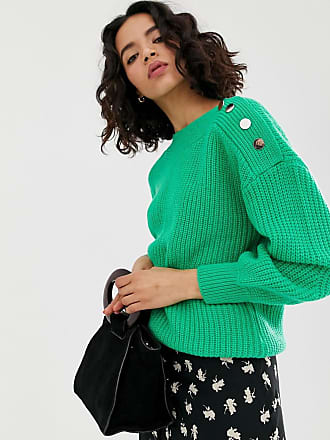 Vero Moda button shoulder sweater - Green