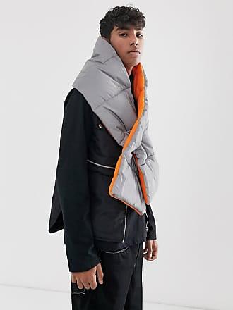7X SVNX reflective puffer scarf-Silver