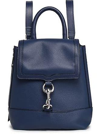 Rebecca Minkoff Rebecca Minkoff Woman Textured-leather Backpack Navy Size