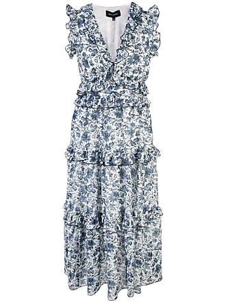 Robert Rodriguez Carmen ruffle dress - Blue