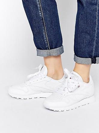 Reebok Klassische Lederturnschuhe in Weiß
