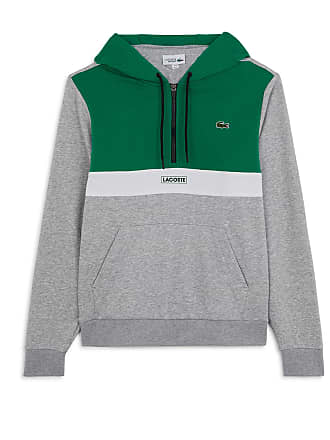 efe4bf4a0e Lacoste COLOR BLOCK DEMI ZIP HOODIE LACOSTE VERT/BLANC/GRIS XS HOMME LACOSTE  VERT