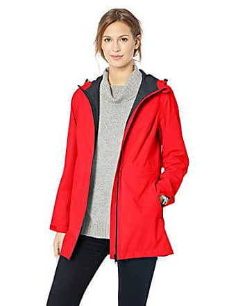 Amazon Essentials Womens Waterproof Rain Jacket, red, Large
