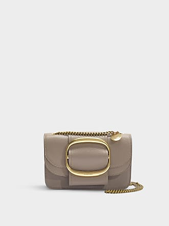 3568e5c4fe55 See By Chloé Hopper Small Crossbody Bag in Motty Grey Grained Leather