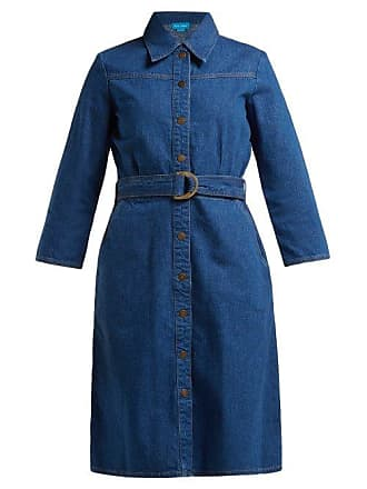 Mih Jeans Aria Denim Shirtdress - Womens - Blue