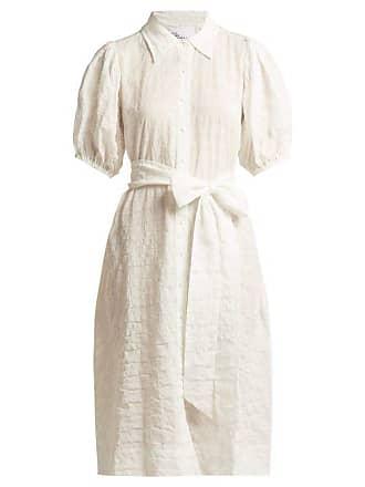a6d652015a Lisa Marie Fernandez Puff Sleeved Cotton Blend Seersucker Shirtdress -  Womens - White Stripe