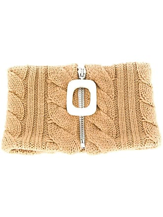 J.W.Anderson zipped knitted scarf - Marrom