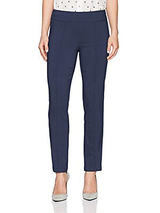 Ruby Rd. Womens Petite Pull-on Solar Millennium Tech Ankle Pant, Navy, 8P