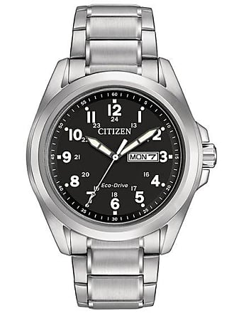 Zales Mens Citizen Eco-Drive Watch with Black Dial (Model: Aw0050-82E)
