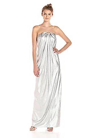 081cd967728920 Halston Heritage Womens Strapless Metallic Jersey Gown with Front Twist,  Silver, 2