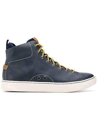 8bd6904e0ef7c Polo Ralph Lauren baskets montantes à détails de surpiqûres - Bleu