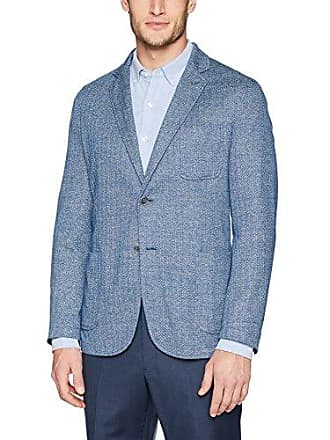 Bugatchi Mens Single Breasted Unconstructed Navy Blazer, 46