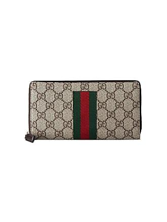 3754926fa4d6 Gucci beige Web GG Supreme zip around wallet - Neutrals