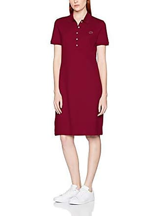 fa55f8bb63 Lacoste EF8470 Robe Femme Rouge (Bordeaux 476) 34 (Taille Fabricant: 34)