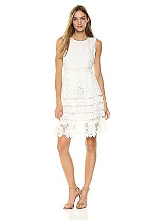 cupcakes and cashmere Womens Summers Lace Fit N Flare Dress, Ivory 8