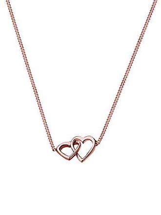adc2b9881089 Elli señorías-collar con colgante entrelazado Rose 925 Plata Corazón 45 cm  - 0108450615 45