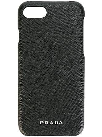 Prada Capa para iPhone 7 em couro - Preto