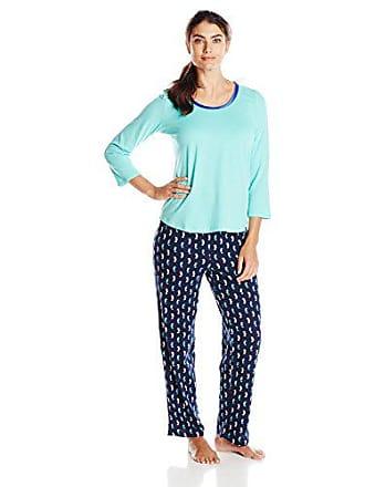 Nautica Sleepwear Womens Printed Knit Pajama Set 339893528