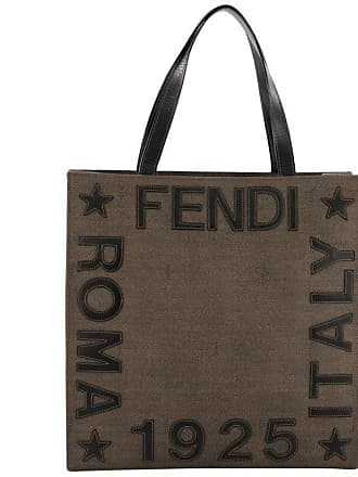 cd4b2bfb07cc Fendi Logo Tote Embroidered Coated Canvas Medium