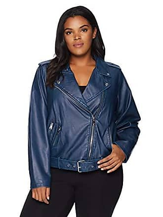 50d389ed752 Levi s Womens Plus Size Faux Leather Asymmetrical Belted Motorcycle Jacket
