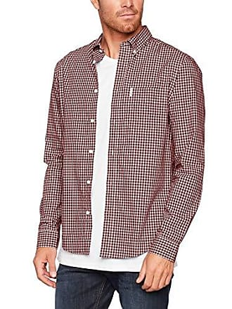 8e1735ee33fe Ben Sherman Ls Core Gingham Shirt, Camicia casual Uomo, Rosso (Dark Red 540