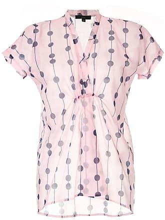 JEJIA Camisa decote em V com estampa - Rosa