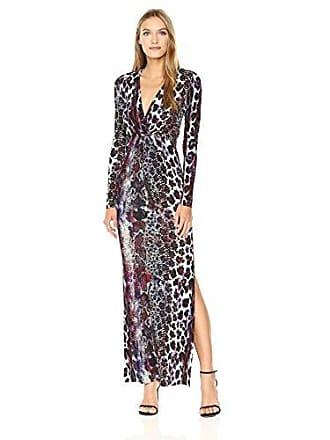 Just Cavalli Womens Animal Hybrid Print Dress, Bordeaux Variant 38