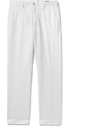 Polo Ralph Lauren Linen, Lyocell And Cotton-blend Trousers - White