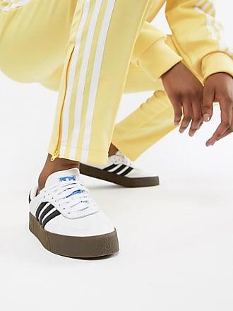 29122c6cd16 adidas Originals Samba Rose Sneakers In White With Dark Gum Sole - White