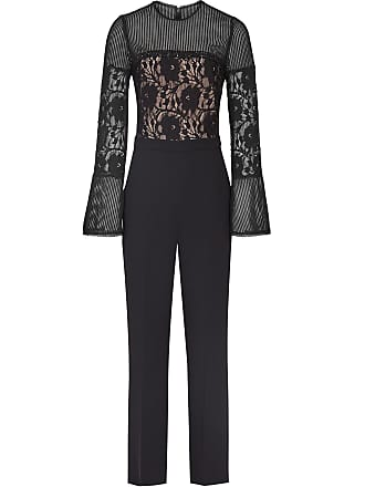 8e293ea51b Reiss Marion - Lace Embellished Jumpsuit in Black