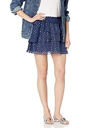 Ramy Brook Womens Multi Lurex Tabitha Mini Skirt, Spring Navy, Large