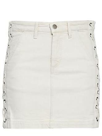 A.L.C. A.l.c. Woman Lace-up Denim Mini Skirt Off-white Size 6